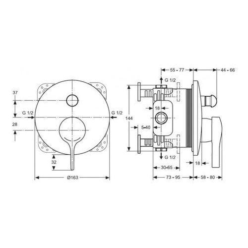 Bateria Ideal Standard Melange A4720AA