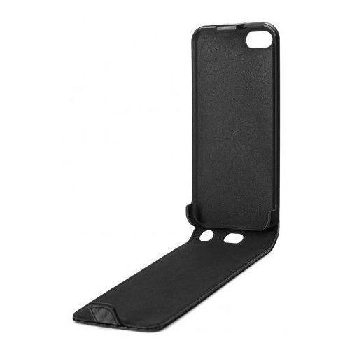 Xqisit Etui flip cover carbon do iphone 5c czarny