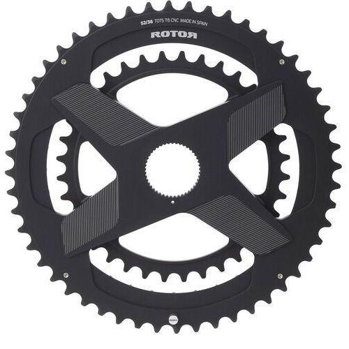 Rotor Aldhu Direct-Mount Zębatka rowerowa okrągła czarny 53/39 zębów 2018 Zębatki przednie (8434366009384)