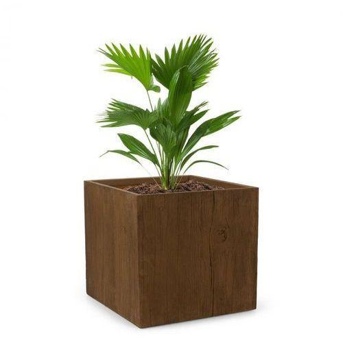 Blumfeldt Timberflor Doniczka na rośliny 55x50x55 cm włókno szklane do wewnątrz/na zewnątrz brązowy