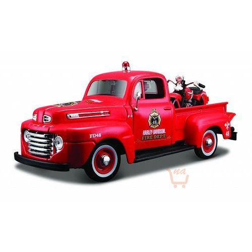 Maisto harley-davidson 1948 ford f-1 pickup + 1936 el knucklehead 1/24