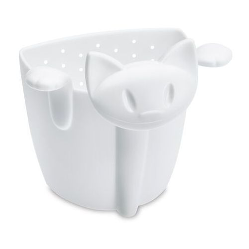- zaparzaczka do herbaty miaou biała 3236525 marki Koziol