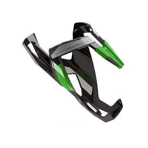 Koszyk na bidon ELITE Custom Race Plus czarny-zielony / Wykończenie: połysk