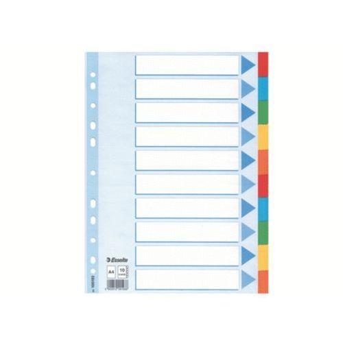 przekładki z kolorowego kartonu z kartą opisową a4 10 kart marki Esselte