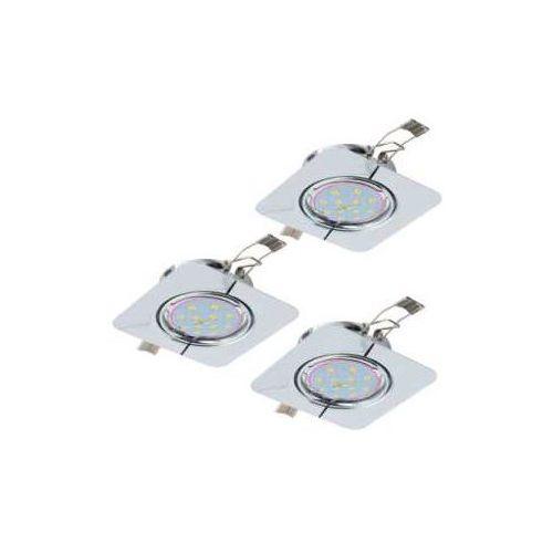 Plafon Eglo Peneto 94267 lampa oprawa wpuszczana downlight oczko zestaw 3szt 3x5W GU10-LED chrom (9002759942670)