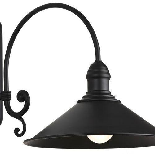 Argon Metalowy kinkiet industrialny lampa ścienna erba 1x60w e27 czarny 633