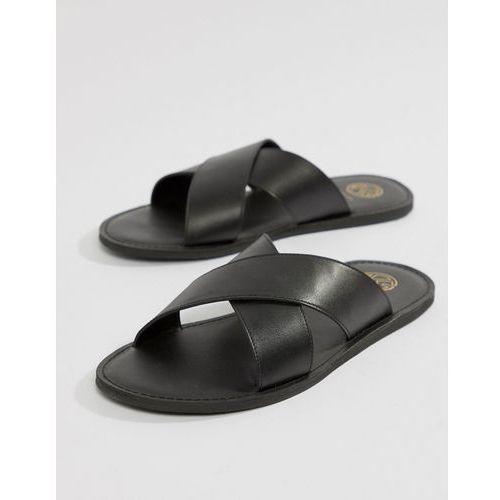 Kg kurt geiger Kg by kurt geiger cross over sandals in black leather - black