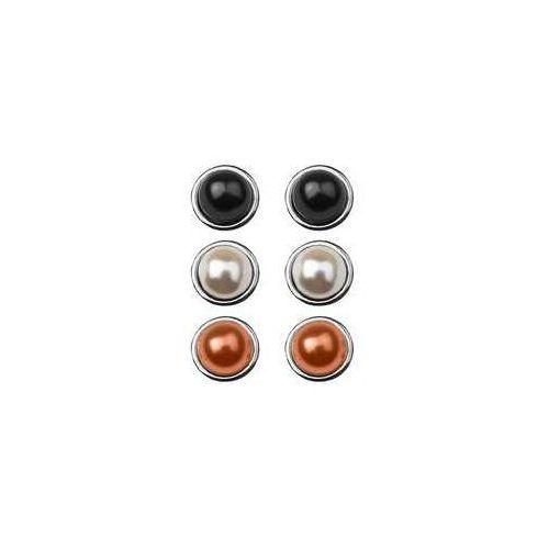 Sztyfty wypukłe z perłą Swarovski - kolor do wyboru, srebro próba 925, SZ 64, SZ 64