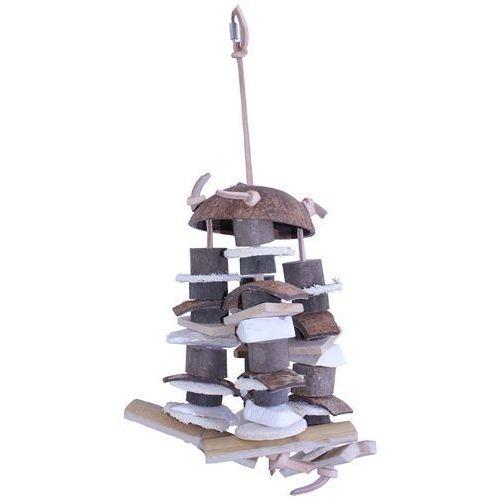 Duża 43 cm. zabawka wisząca dla ptaków Natural Cluster
