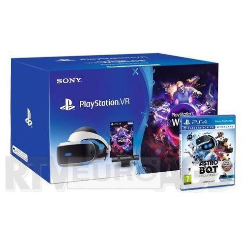 Sony playstation vr + playstation 4 camera v2 + vr worlds + astro bot rescue mission vr
