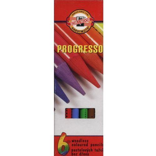 Kredki bezdrzewne 6 kolorów Progresso (8593539002222)