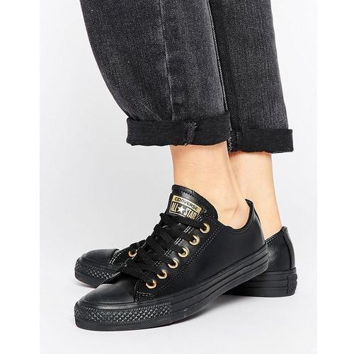 chuck taylor dainty trainers in black with gold eyelets - multi, marki Converse