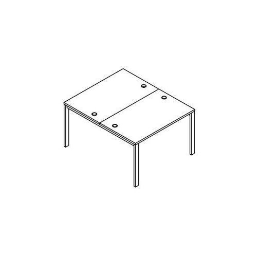 Układ biurek (2 stanowiska) BSA21 wymiary: 116x140x75,8 cm