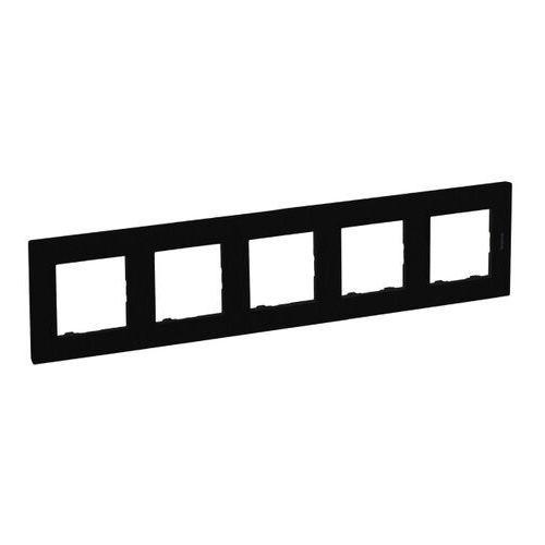 Ramka pięciokrotna Legrand Niloe Step czarna, kolor czarny