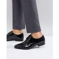city toe cap lace up shoes in black - black marki Walk london