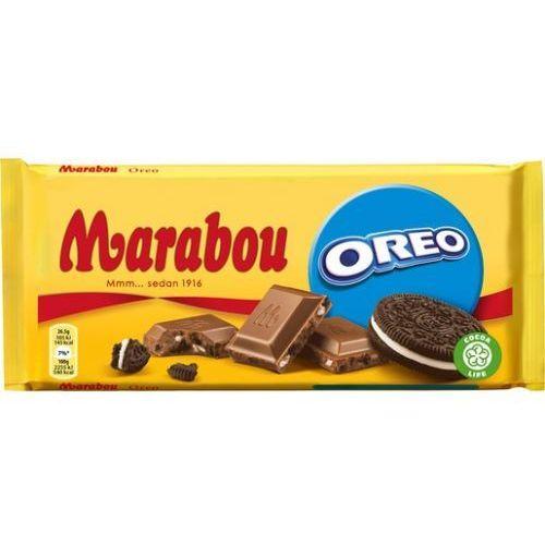 Marabou oreo - 200g - szwedzka czekolada mleczna z kawałkami oreo