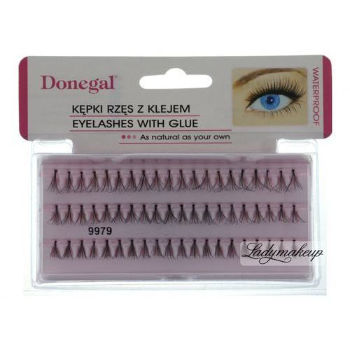 Donegal - EYELASHES WITH GLUE - Kępki rzęs z klejem 9979-9981