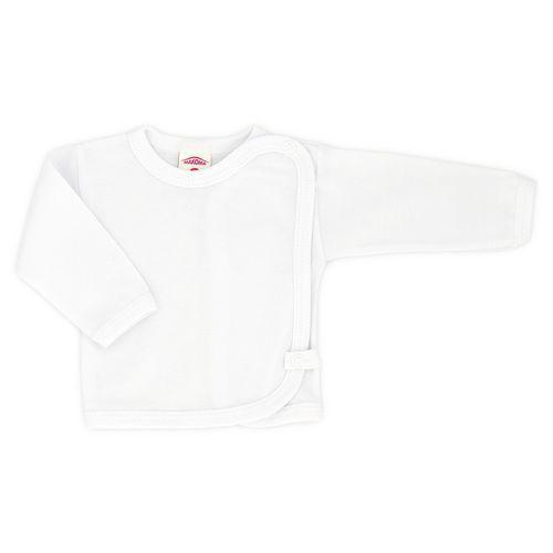 Koszulka niemowlęca z długim rękawem w kolorze białym