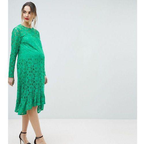 Asos design maternity lace midi swing dress - green marki Asos maternity