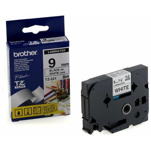 Oryginał taśma  laminowana 9mm x 8m czarny nadruk / białe tło marki Brother