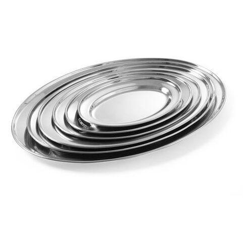 Półmisek do mięs i wędlin | owalny | stalowy | 500x350mm
