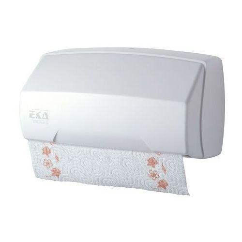 Ekaplast Pojemnik na ręczniki papierowe w rolce i ręczniki składane biały