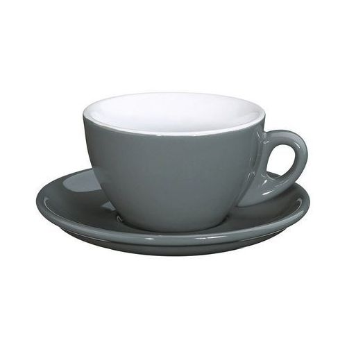 Cilio - Roma - filiżanka do cappuccino, 0,10 l, szara - szary