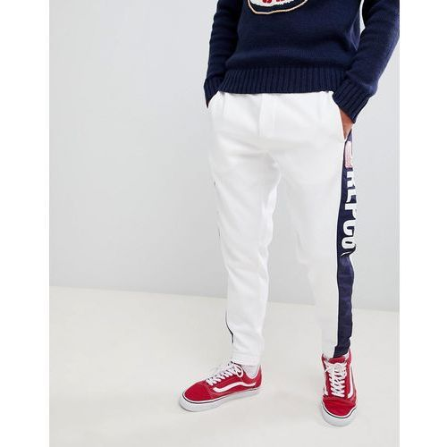 cp-93 capsule side logo cuffed joggers in white/navy - white marki Polo ralph lauren
