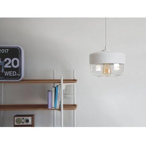 Lampa wisząca szklana biała MURRAY