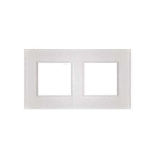 Polmark Ramka podwójna rosa szklana kryształowa biel (5907559870793)