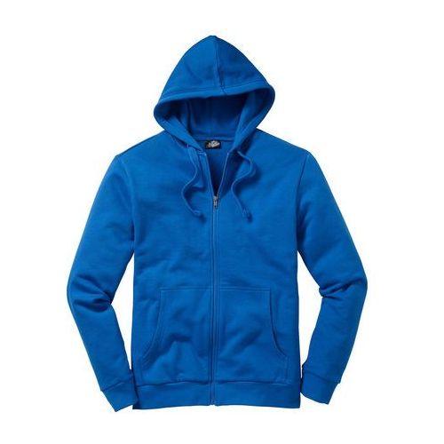 Bluza rozpinana z kapturem Regular Fit bonprix lazurowy niebieski, w 5 rozmiarach
