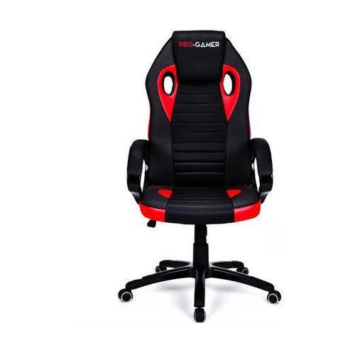 Fotel gamingowy flame plus czerwony dla graczy marki Pro-gamer