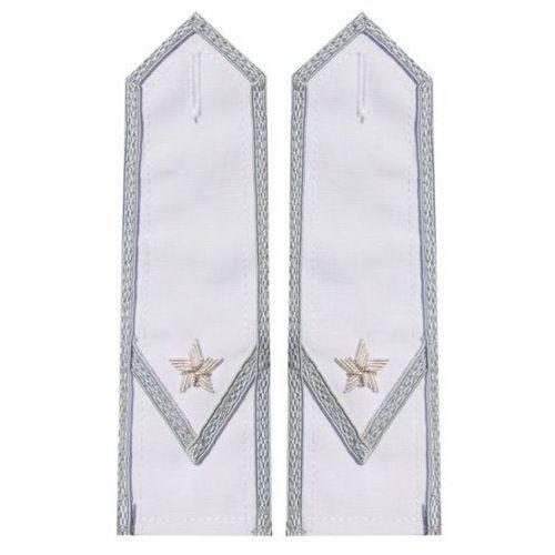 Pagony białe do koszulo-bluzy Wojska Polskiego - młodszy chorąży (haft bajorkiem)
