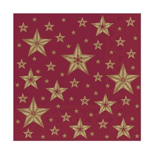 Serwetki świąteczne BEAUTIFUL STARS czerwone 33 x 33 cm 20 szt. (5906360700602)