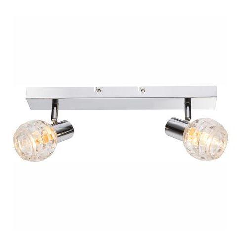 Globo Listwa lampa oprawa sufitowa keith i 2x40w e14 chrom/przezroczysty 541007-2 (9007371311453)