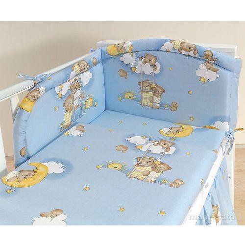 pościel 3-el drabinki z misiami na błękitnym tle do łóżeczka 60x120cm marki Mamo-tato