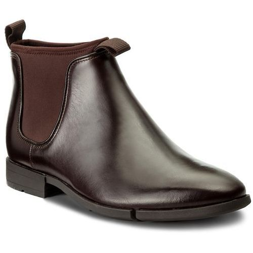 Sztyblety - daulton up 261268807 dark brown leather marki Clarks