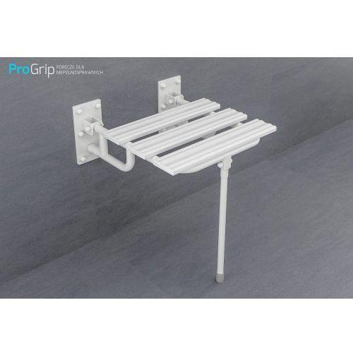 Krzesełko prysznicowe uchylne z podporami i nogą
