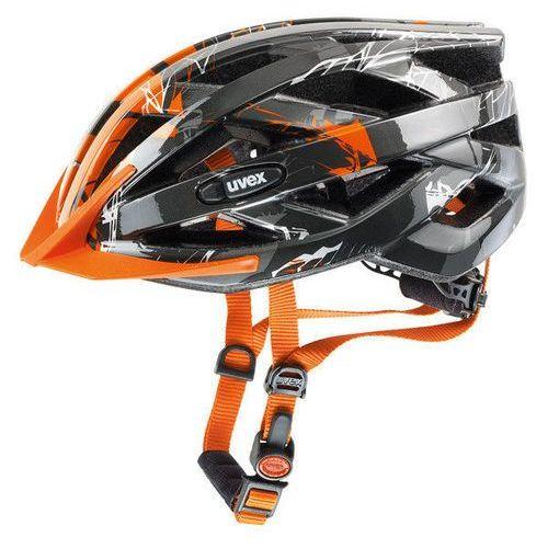 Kaski rowerowy Uvex I-vo c - dark silver orange (4043197255217)