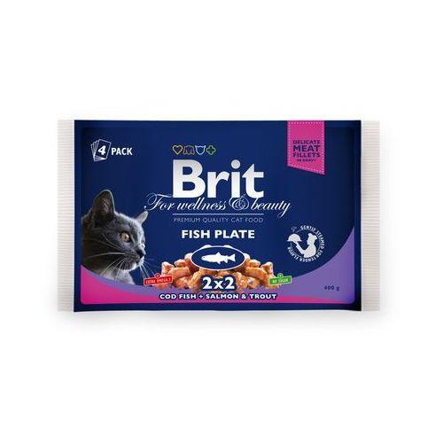 Brit cat zestaw saszetek 4x100g - menu ryby