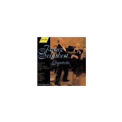 Haenssler Schubert f: quartette d 804 a - moll / d 36 b - dur