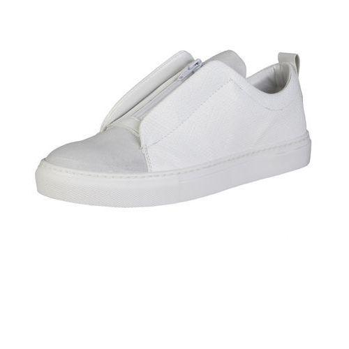 Męskie buty sneakersy gregorio białe, Made in italia