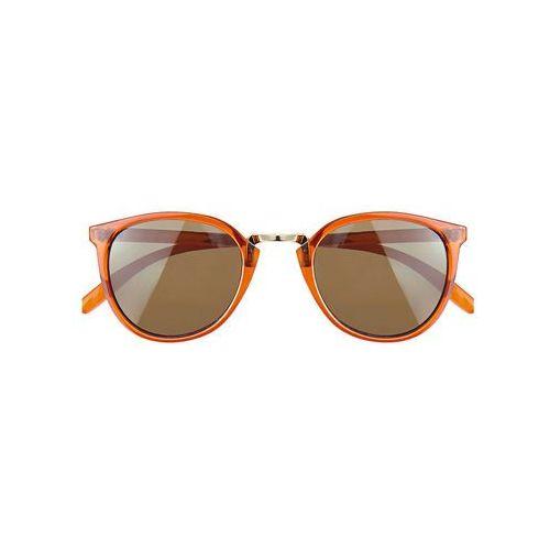 Okulary przeciwsłoneczne jasnobrązowo-złoty kolor marki Bonprix
