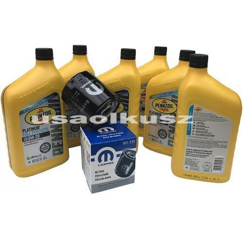 Pennzoil Olej 0w20 oraz oryginalny filtr jeep cherokee kl 2,4