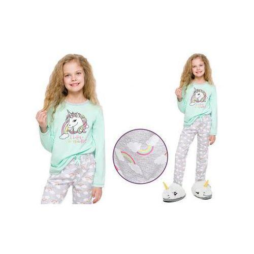 Piżama dziecięca MAJA: mięta, kolor zielony
