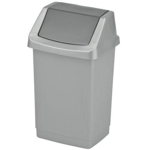 Kosz na śmieci 25 l plastikowy z uchylną pokrywą Grafitowy Wyposażenie łazienek, kolor grafitowy