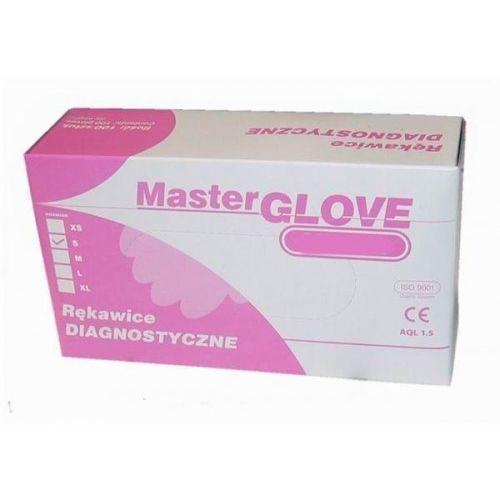MasterGlove Rękawiczki Nitrylowe Bezpudrowe Różowe rozm. S 100szt.