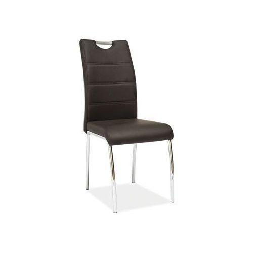 Nowoczesne krzesło h-822 brown marki Signal