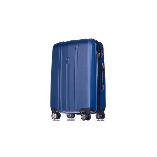 walizka mała/ kabinowa z kolekcji pc018 toronto twarda 4 koła materiał policarbon zamek szyfrowy tsa marki Puccini