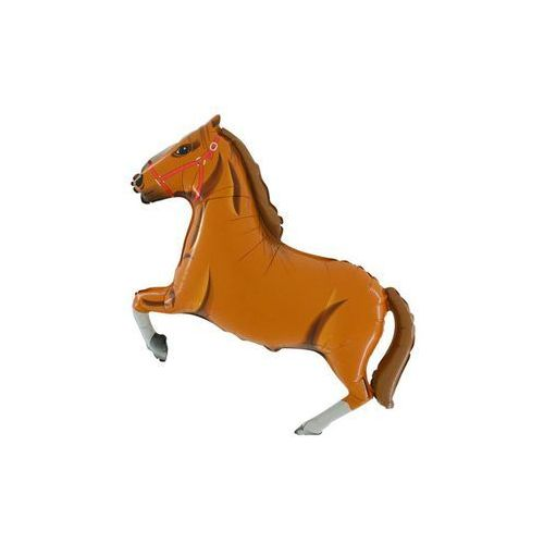 Balon foliowy do patyka koń brązowy - 37 cm - 1 szt. marki Grabo balloons